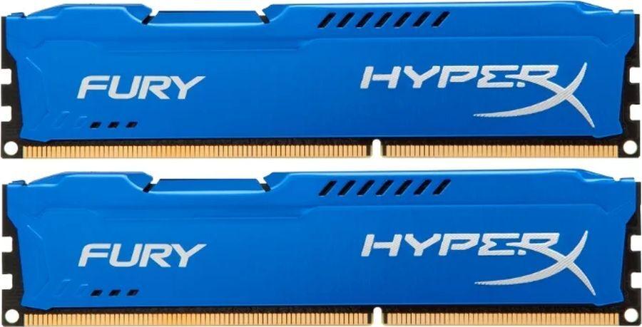 Оперативная память Kingston HX313C9FK2/16 16GB DDR3 1333 DIMM HyperX FURY Blue, Non-ECC, CL9, Kit (2x8GB)
