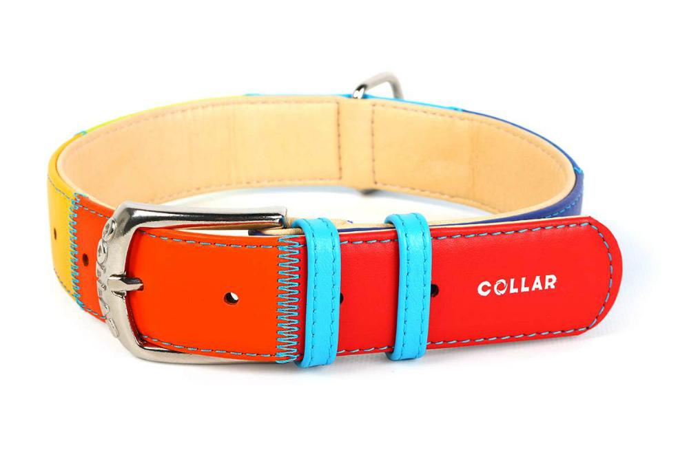 Ошейник для собак Collar Glamour Радуга, 300-390*20, 50 гр