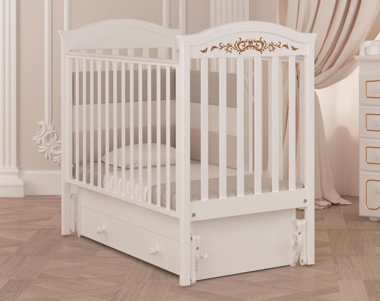 Кровать  детская Гандылян Даниэль Люкс маятник универсальный (белый)