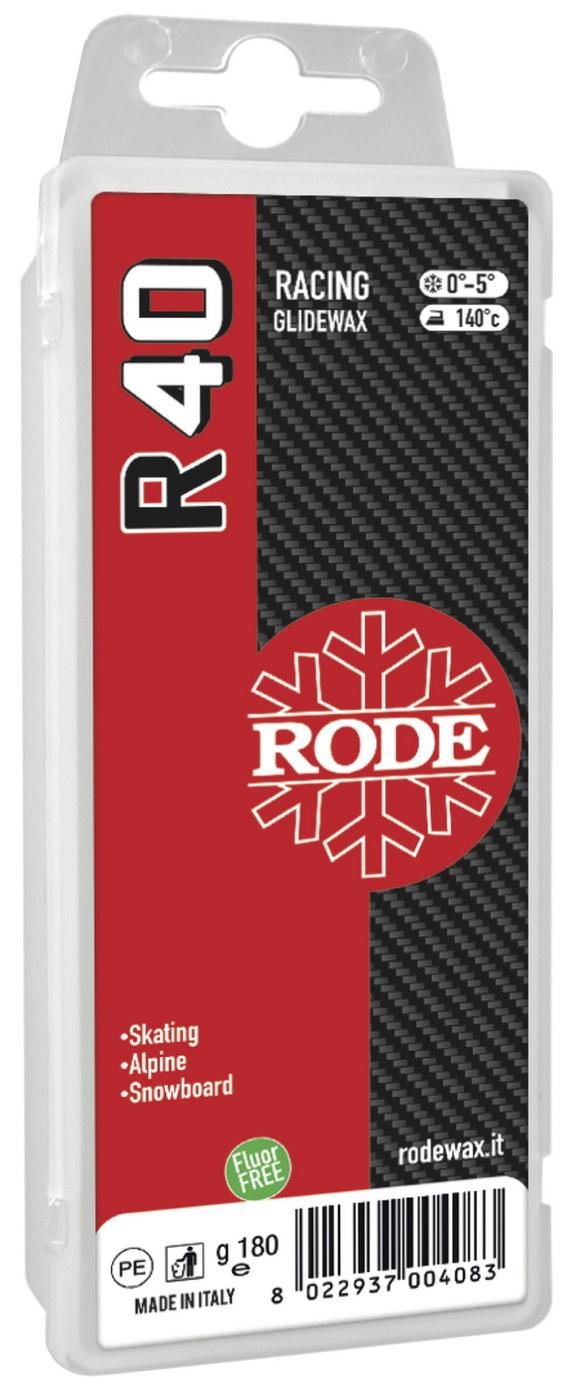 Парафин Rode R40 Racing Glider Red, 0°...-5°С, R40-180, красный, 180 г