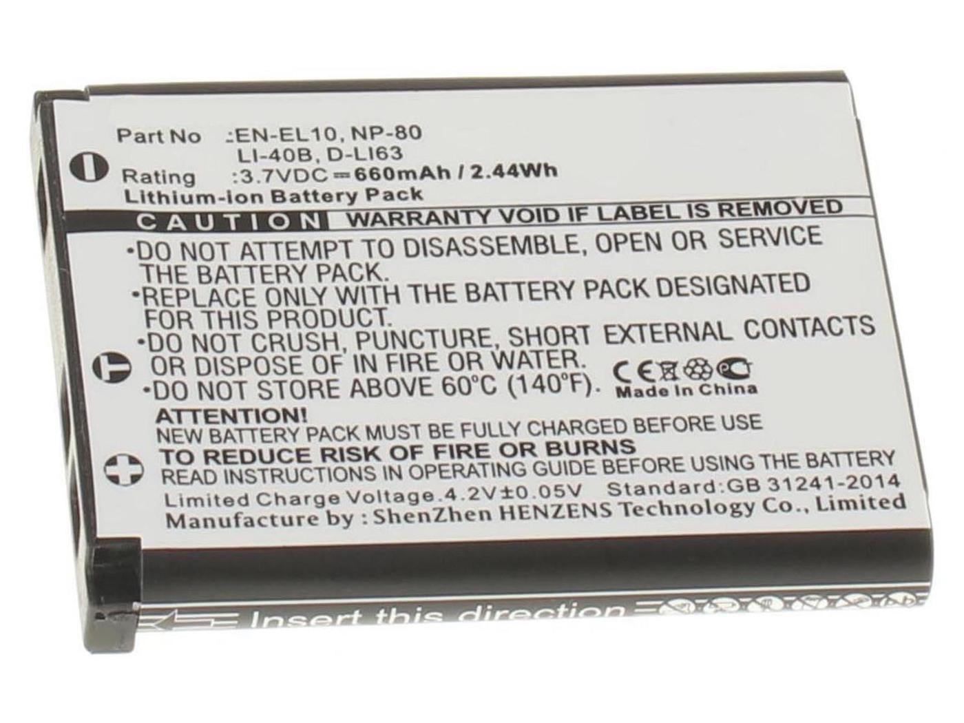 Аккумуляторная батарея iBatt iB-T30-F140 660mAh для камер Olympus FE-340, FE-240, VR-320, FE-280, VH-210, Tough TG-320, FE-350 Wide, FE-360, FE-290, FE-5020, FE-3010, Tough TG-310, FE-320, FE-4030, FE-5030, FE-330, FE-5010, FE-5035,