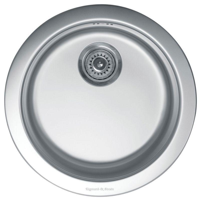 Врезная кухонная мойка Zigmund & Shtain KREIS 480 satin 48х48см нержавеющая сталь
