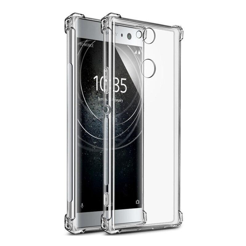 Чехол панель накладка MyPads для Sony Xperia 10 Plus с защитными заглушками и защитой боковых кнопок прозрачная