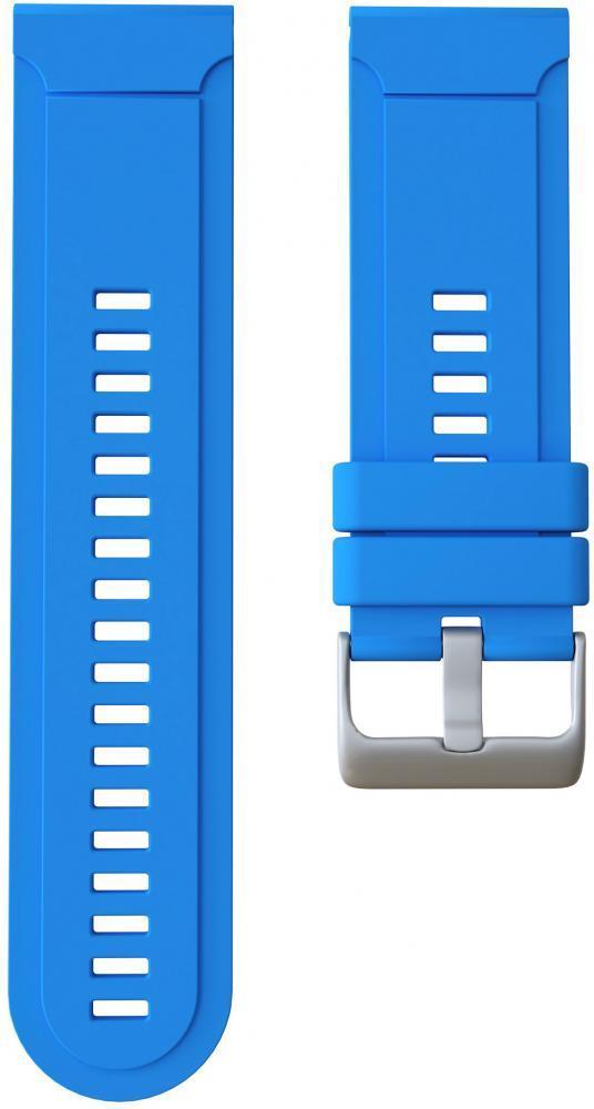 Ремешок силиконовый GSMIN Silicone для Garmin Fenix 3 / 3 HR / 3 Sapphire / Quatix 3 / 5X / 5X Plus / D2 Bravo / Tactix Bravo / Descent Mk1 (Голубой)