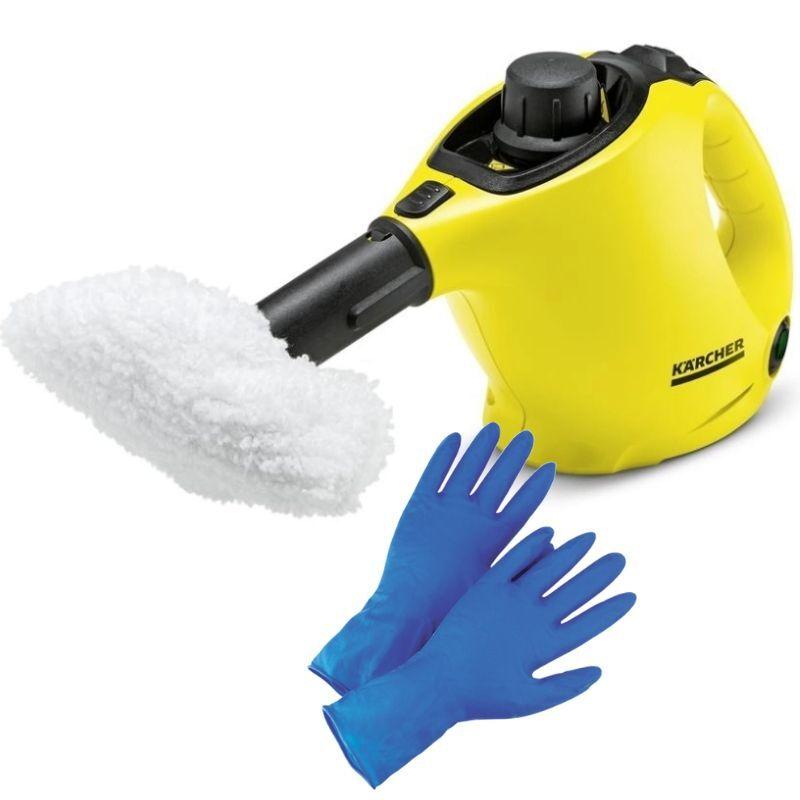 Пароочиститель Karcher SC 1 *EU, Yellow Black + прочные латексные перчатки