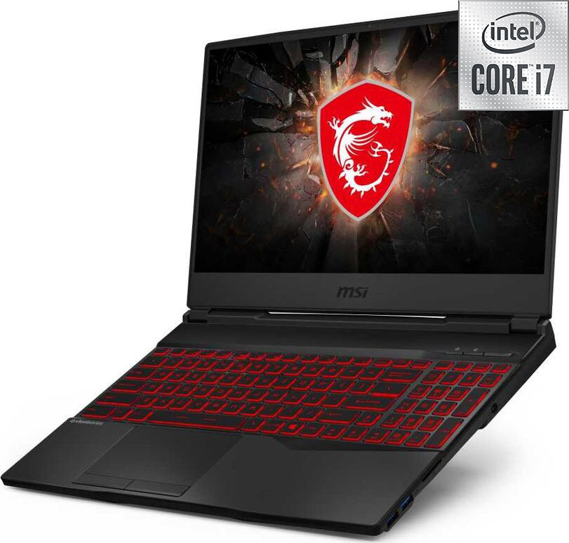 """15.6"""" игровой ноутбук msi gl65 leopard 10sdrk-404ru, intel core i7-10750h (2.6 ггц), ram16 гб, ssd 512 гб nvidia geforce gtx geforce gtx 1660 ti, windows 10 home, (9s7-16u722-404), черный. уцененный товар"""