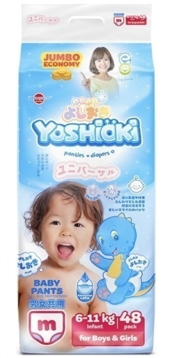 Yoshioki Трусики-подгузники M (6-11кг) 48шт