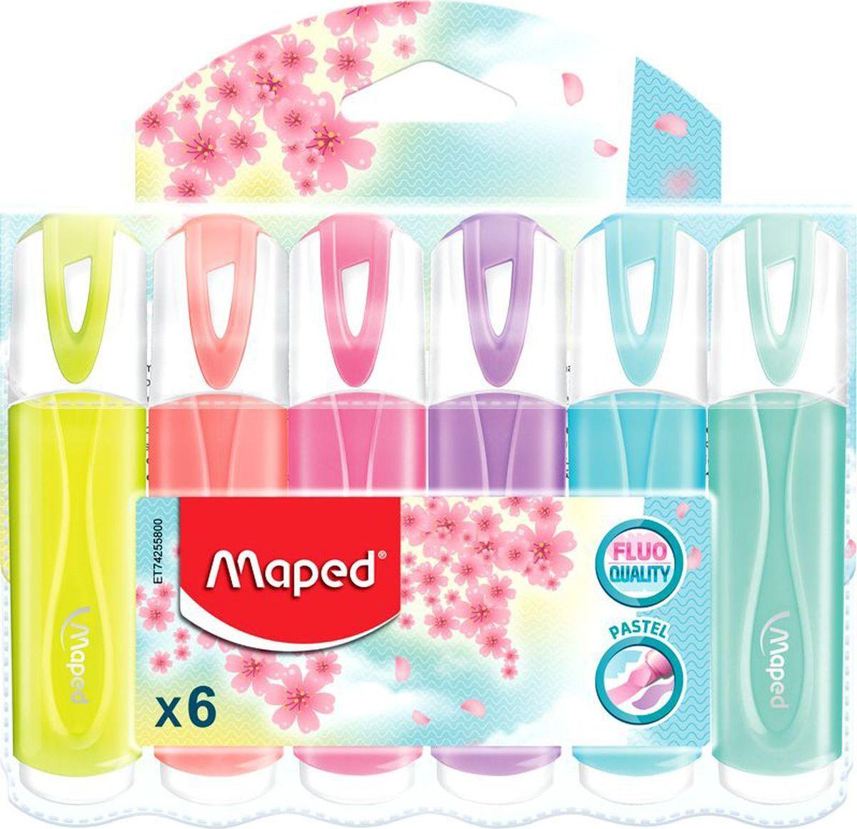 Набор маркеров Maped Fluo Pep's Classic, пастель, 6 шт #1