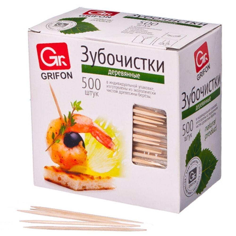 Зубочистки в индивидуальной упаковке Grifon, 500 шт. #1
