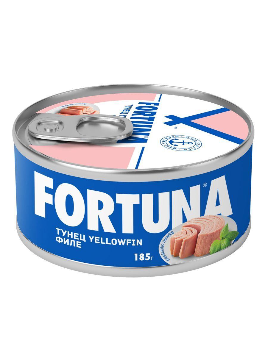 Fortuna тунец филе в собственном соку, 185 г #1