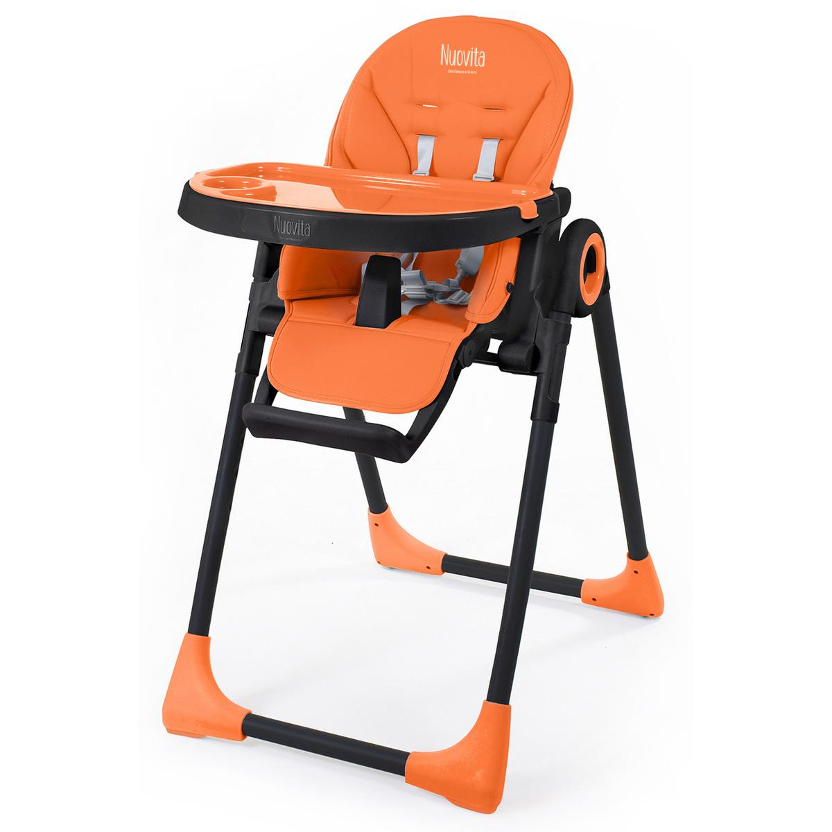 Стульчик для кормления Nuovita Lembo (Arancione, Nero/Оранжевый, Черный)  #1