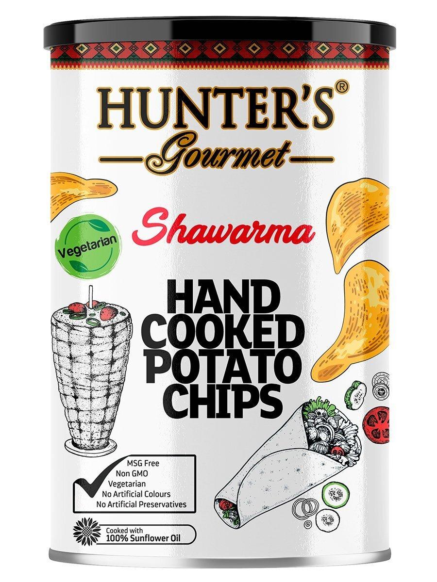 Картофельные чипсы натуральные приготовленные вручную Hunter's Gourmet со вкусом шавермы, 150г  #1