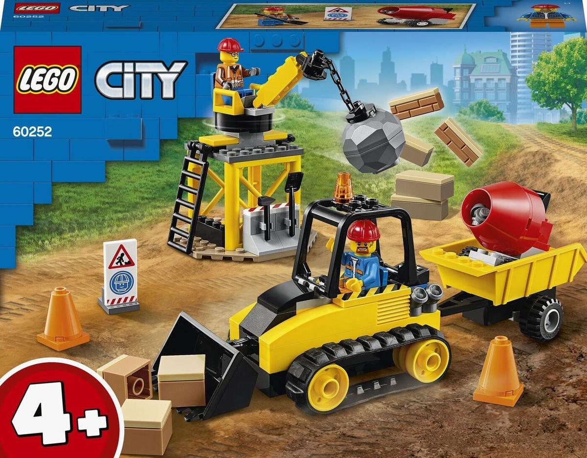 Конструктор LEGO City Great Vehicles 60252 Строительный бульдозер #1