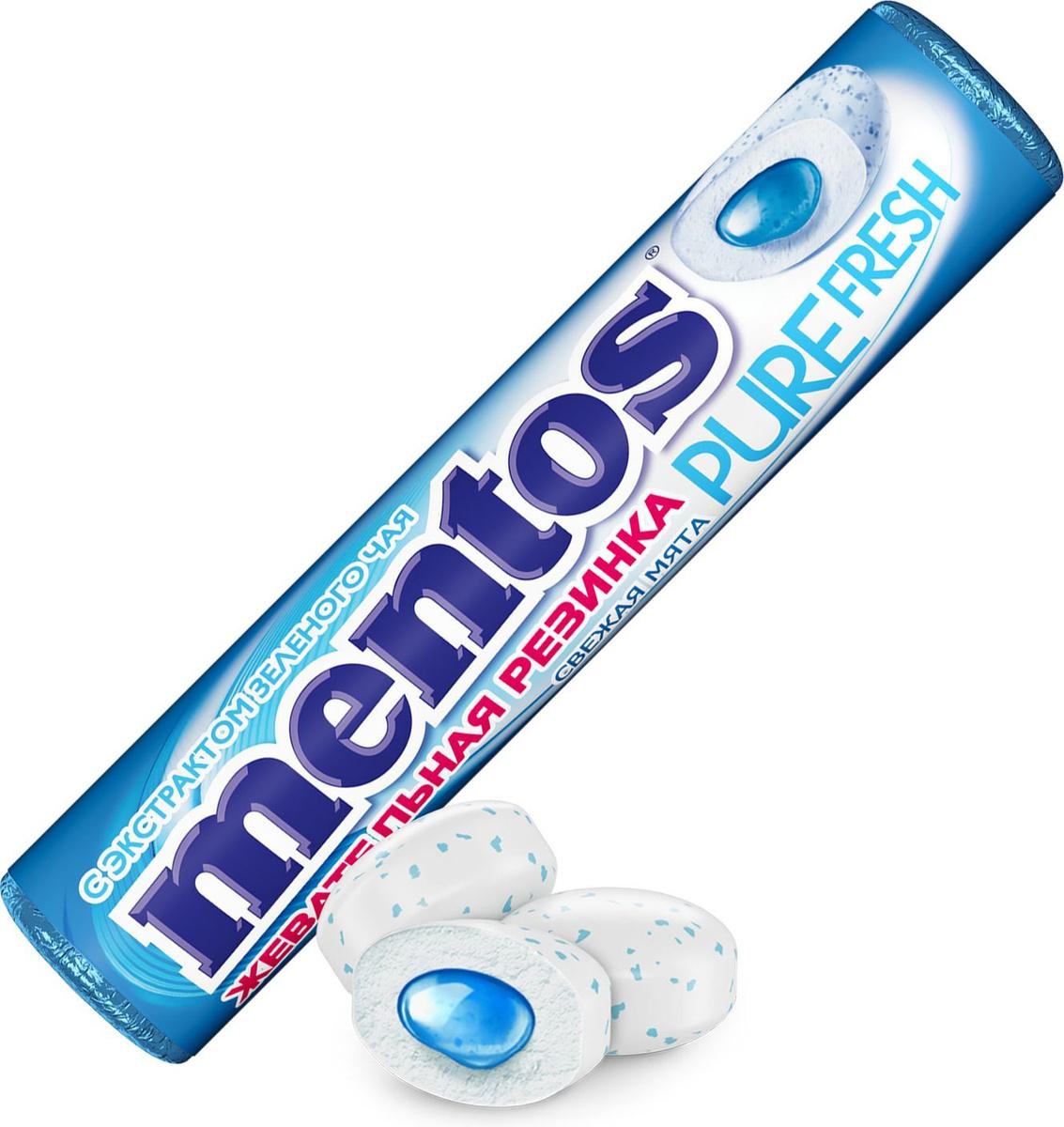 Жевательная резинка Mentos Pure Fresh Свежая мята, 15,5 г #1