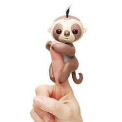 Интерактивная игрушка Fingerlings Ленивец Кингсли, 12 см, 40 действий и звуков!. Ручные питомцы