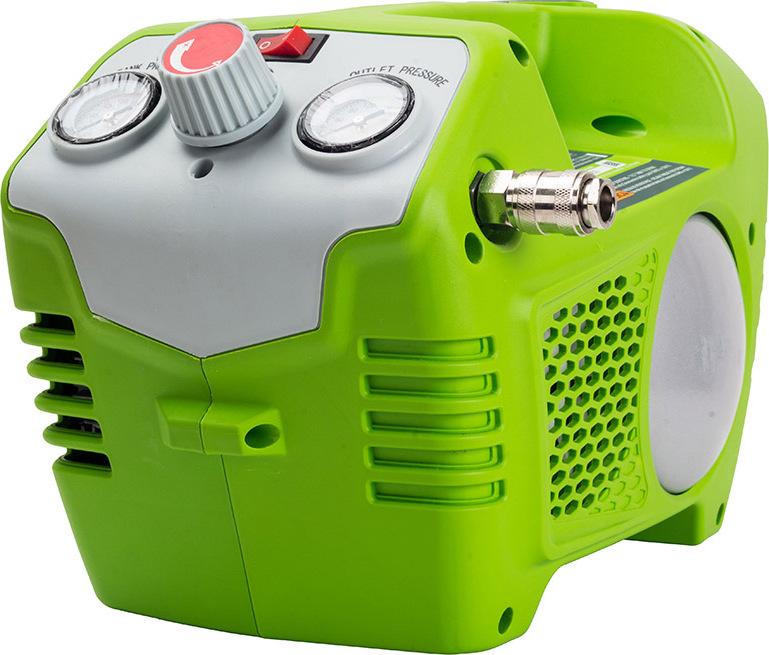 Компрессор аккумуляторный Greenworks G40AC 40V без АКБ и ЗУ вы lite шт воздушный манометр прецизионный значительное число yd 6026a