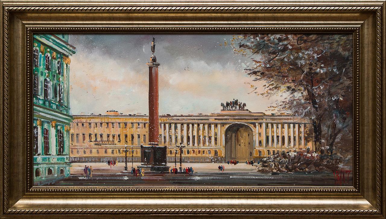 Картина маслом Дворцовая площадь Шеренкова картина маслом шумный город шеренкова