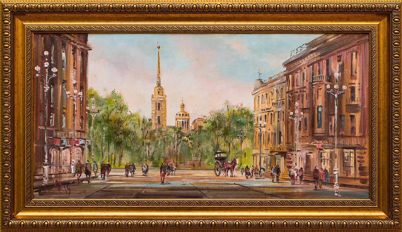 Картина маслом Петропавловская крепость Шеренкова картина маслом шумный город шеренкова