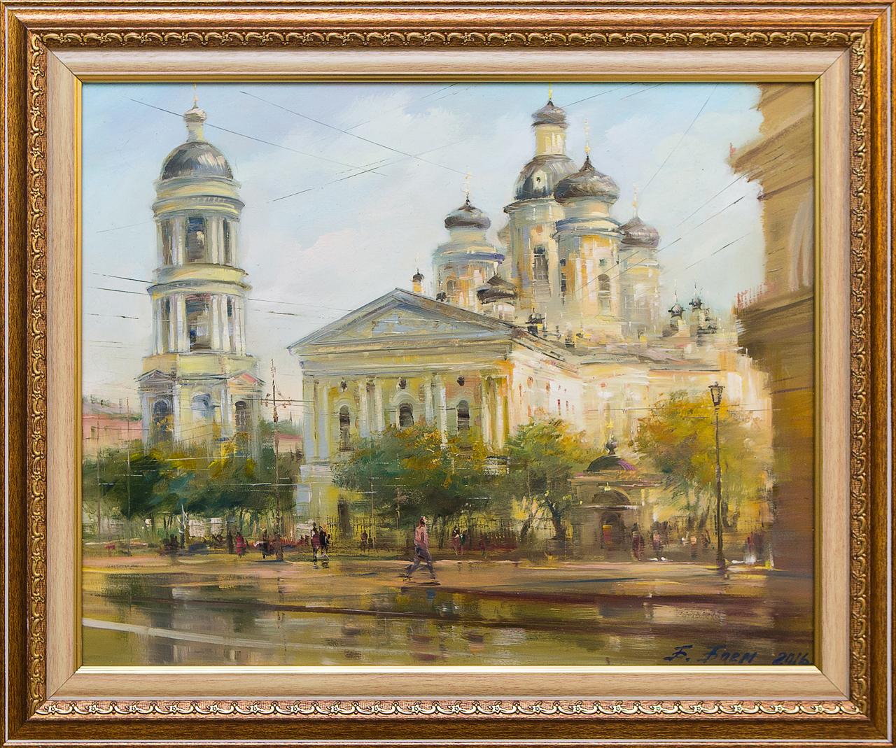 Картина маслом Владимирский собор Боем картина маслом владимирский собор боем