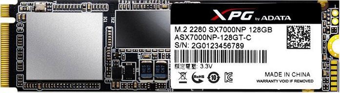 Твердотельный накопитель 128Gb SSD ADATA SX7000, ASX7000NP-128GT-C ssd диск adata xpg sx6000 128gb asx6000np 128gt c