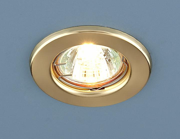 Встраиваемый светильник Elektrostandard Точечный 9210 MR16 GD, G5.3 светильник встраиваемый escada milano gu5 3 001 gd