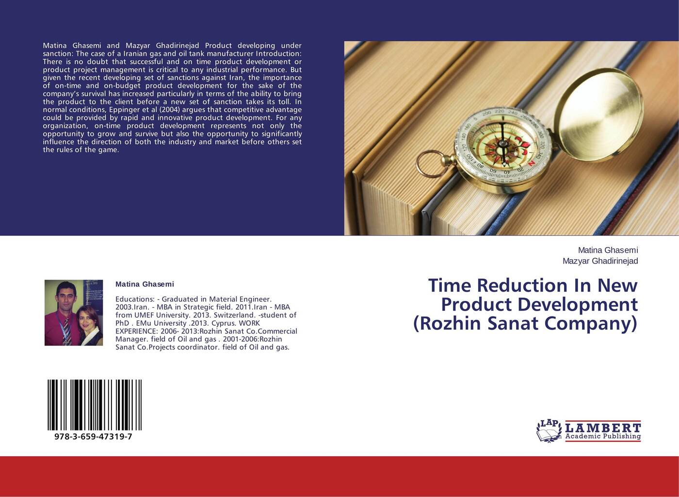 Matina Ghasemi and Mazyar Ghadirinejad Time Reduction In New Product Development (Rozhin Sanat Company)