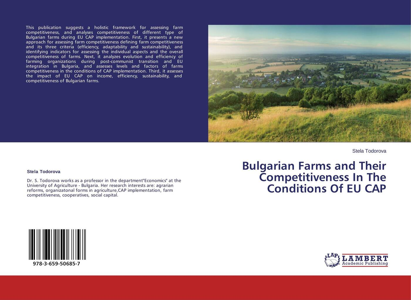Фото - Stela Todorova Bulgarian Farms and Their Competitiveness In The Conditions Of EU CAP piya das and subhrabaran das competitiveness and role of research and development