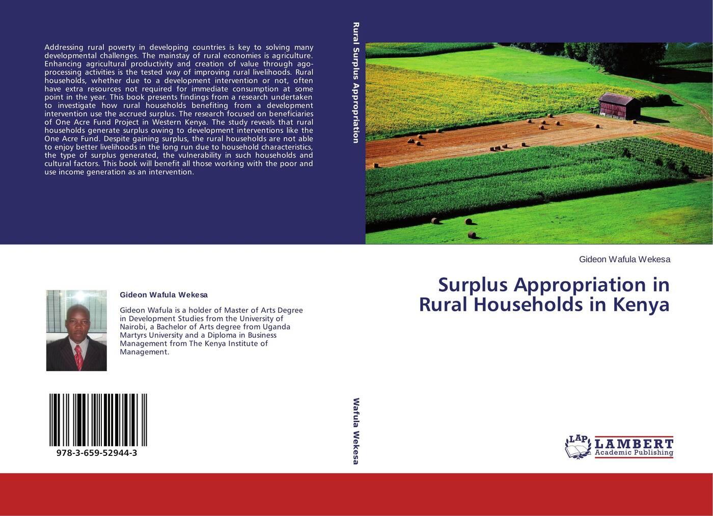 Gideon Wafula Wekesa Surplus Appropriation in Rural Households in Kenya цена в Москве и Питере