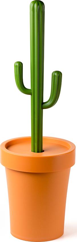 Контейнер для мусора Qualy Cactrash, оранжевый с зеленым корзина для мусора qualy cherry