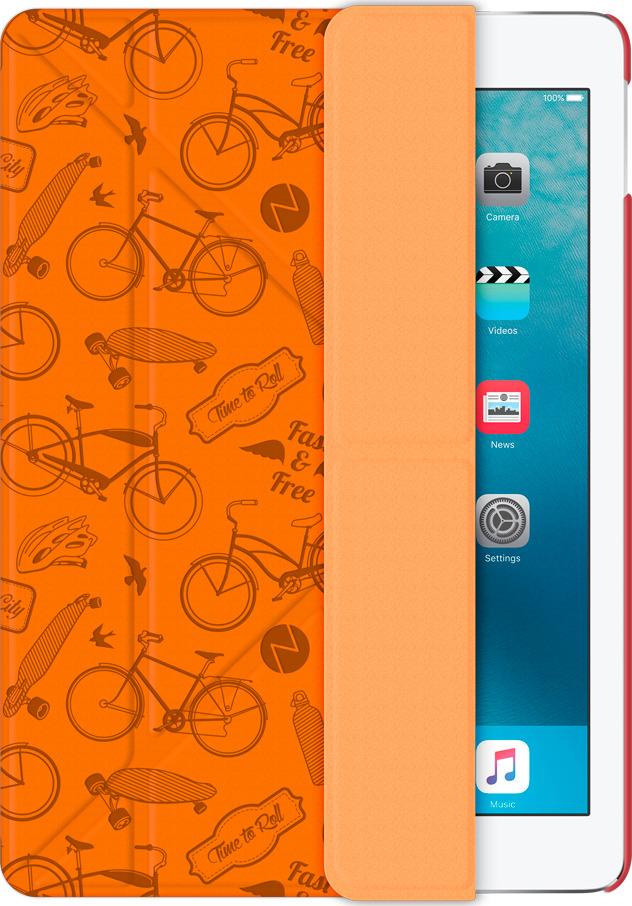 Чехол-подставка Wallet Onzo для Apple iPad Pro 9.7 c тиснением, оранжевый, Deppa