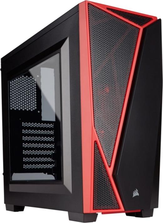 Компьютерный корпус Corsair Carbide Series® SPEC-04 Tempered Glass CC-9011117-WW Mid-Tower Gaming Case — Black/Red цена и фото