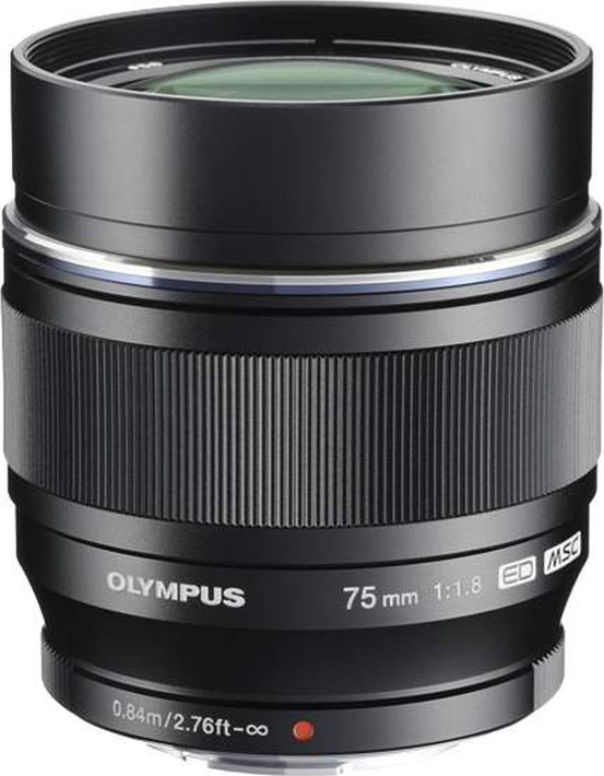 Объектив Olympus M.Zuiko Digital ED 75mm F1.8, черный