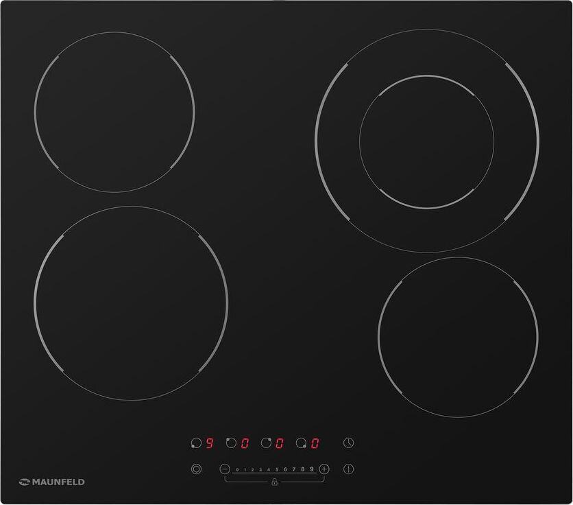 Стеклокерамическая панель MAUNFELD EVCE. 594F. D-BK черный MAUNFELD LIGHTсерия Тип: электрическая 60см Тип установки...