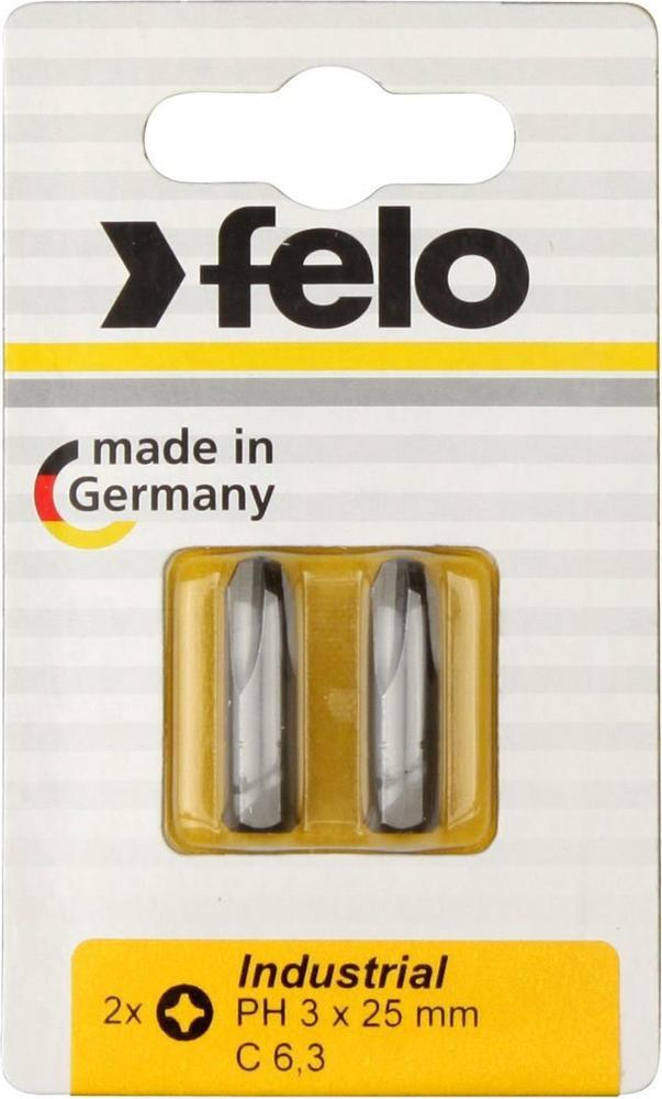 Бита для инструмента Felo Industrial, крестовая PH 3х25 мм, FEL-02203036, 2 шт