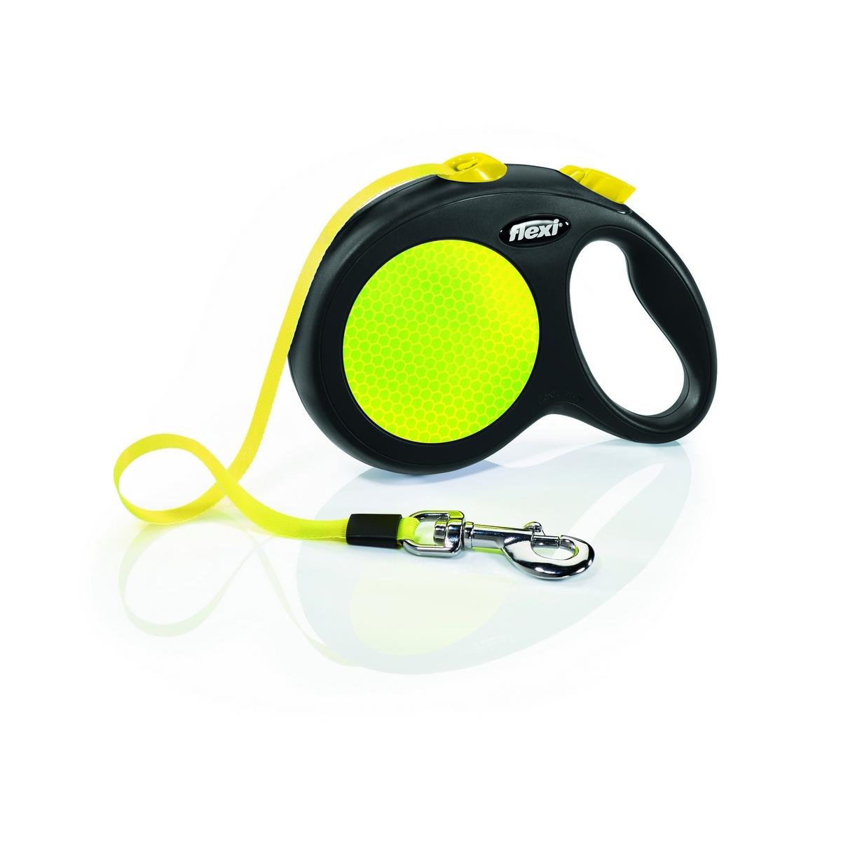 Поводок-рулетка Flexi Neon Reflect tape L 5m 50 kg