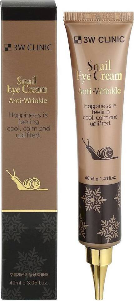 Крем для глаз c улиточным муцином 3W Clinic Snail Eye Cream Anti Wrinkle, 40 мл.  Улиточный муцин содержит необходимые для кожи аминокислоты, витамины...