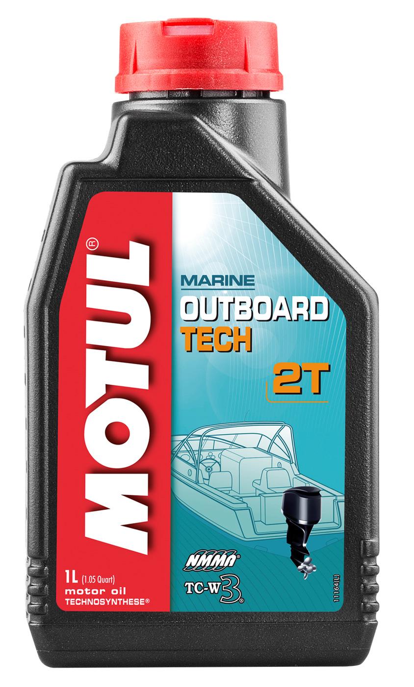 Масло моторное полусинтетическое Motul Outboard Tech 2T 1 л (102789)