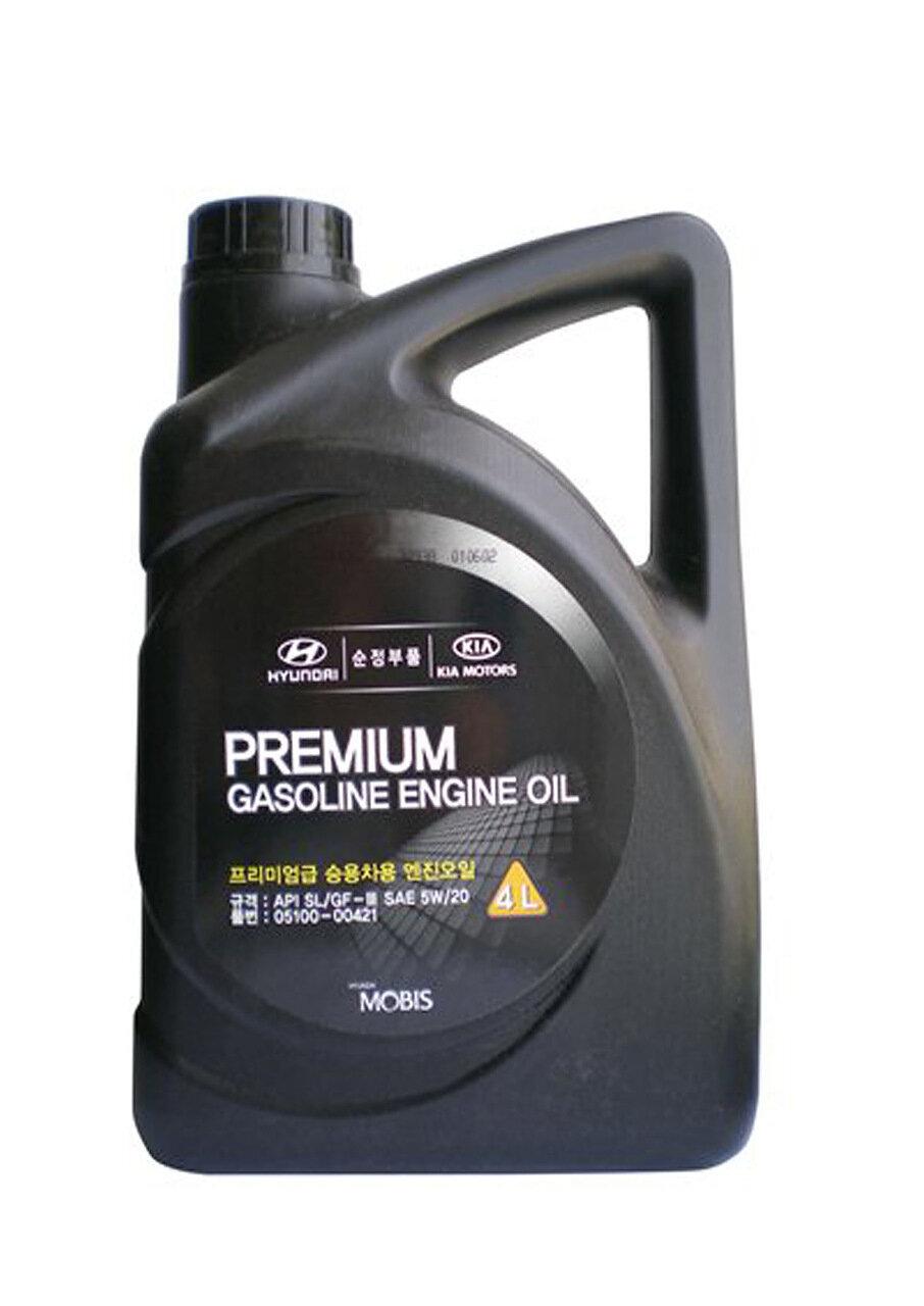 Моторное масло HYUNDAI Premium Gasoline SAE 5W-20 SL/GF-3 (4л)