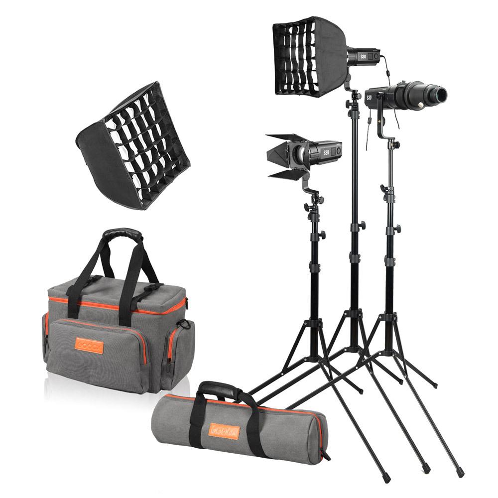 Godox S30-D,Комплект флуоресцентных осветителей