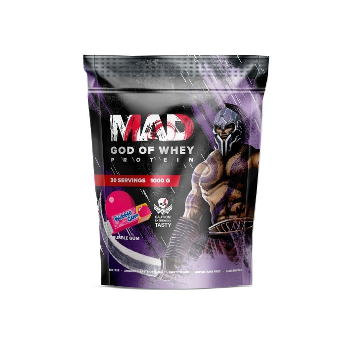 MAD GOD OF WHEY (ПАКЕТ) 1000 Г БАБЛ-ГАМ
