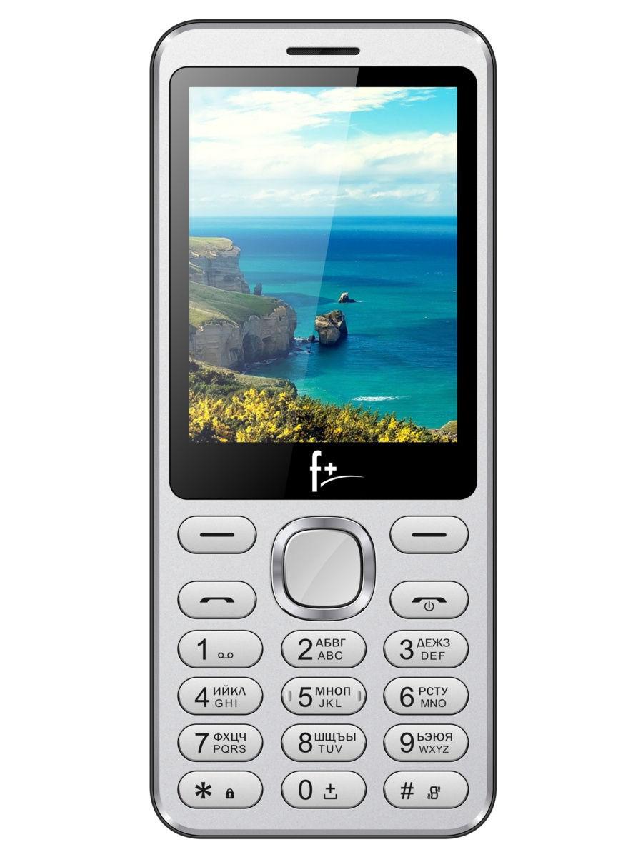 мобильный телефон f+ s2865 silver (s2865), серебристый