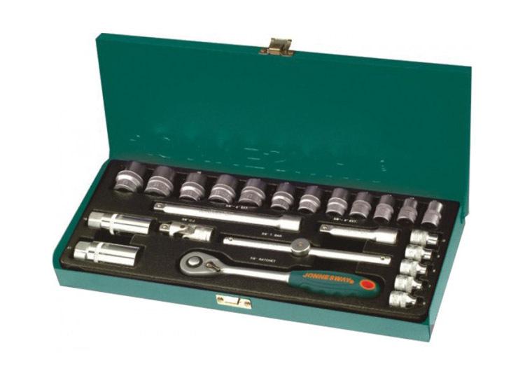 """Jonnesway S04H3125S Набор инструмента , головки 3/8""""DR, 6-22 мм, с принадлежностями, 25 предметов"""