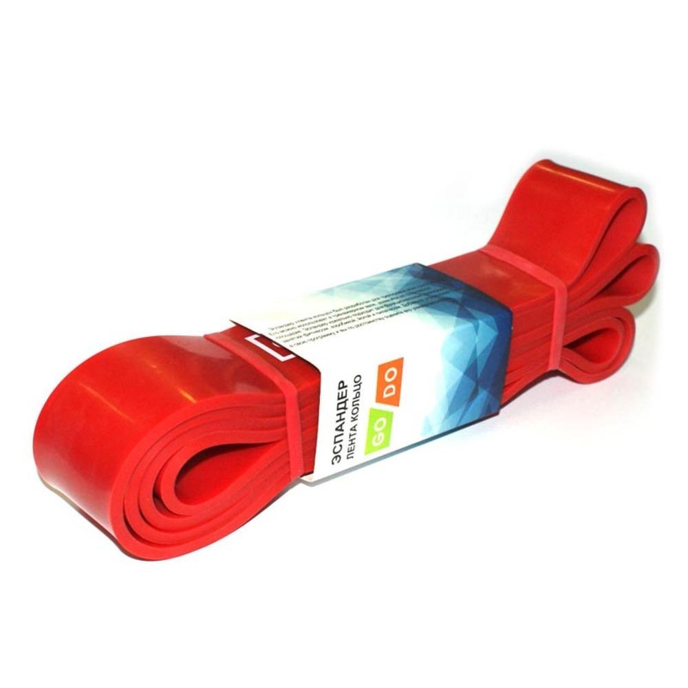 Эспандер лента кольцо GO DO красный, нагрузка 17-54 кг