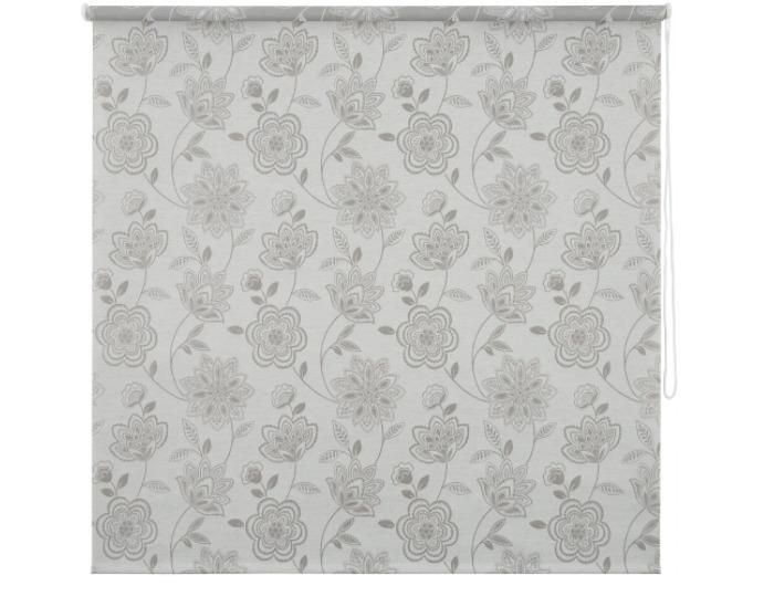 Штора рулонная, 140х175 см, цвет серый-21156