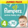 Pampers Подгузники Active Baby-Dry 9-14 кг (размер 4) 70 шт - изображение