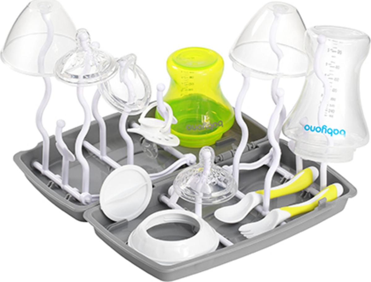 BabyOno Сушилка универсальная для бутылочек и посуды (серая)  #1