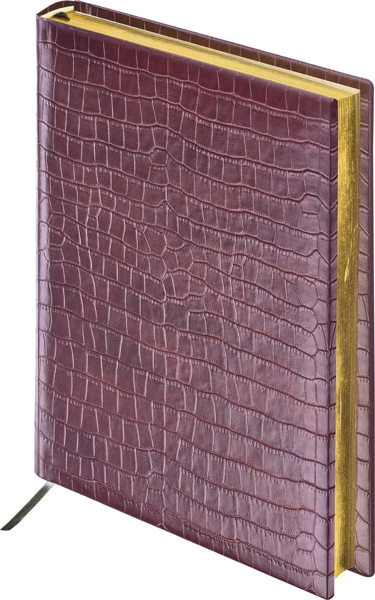 """Ежедневник BRAUBERG недатированный, А5, 138х213 мм, """"Comodo"""", под матовую крокодиловую кожу, 160 л., #1"""