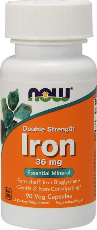 Now Foods Железо двойной силы 90 капсул, 36 мг (БАД) #1