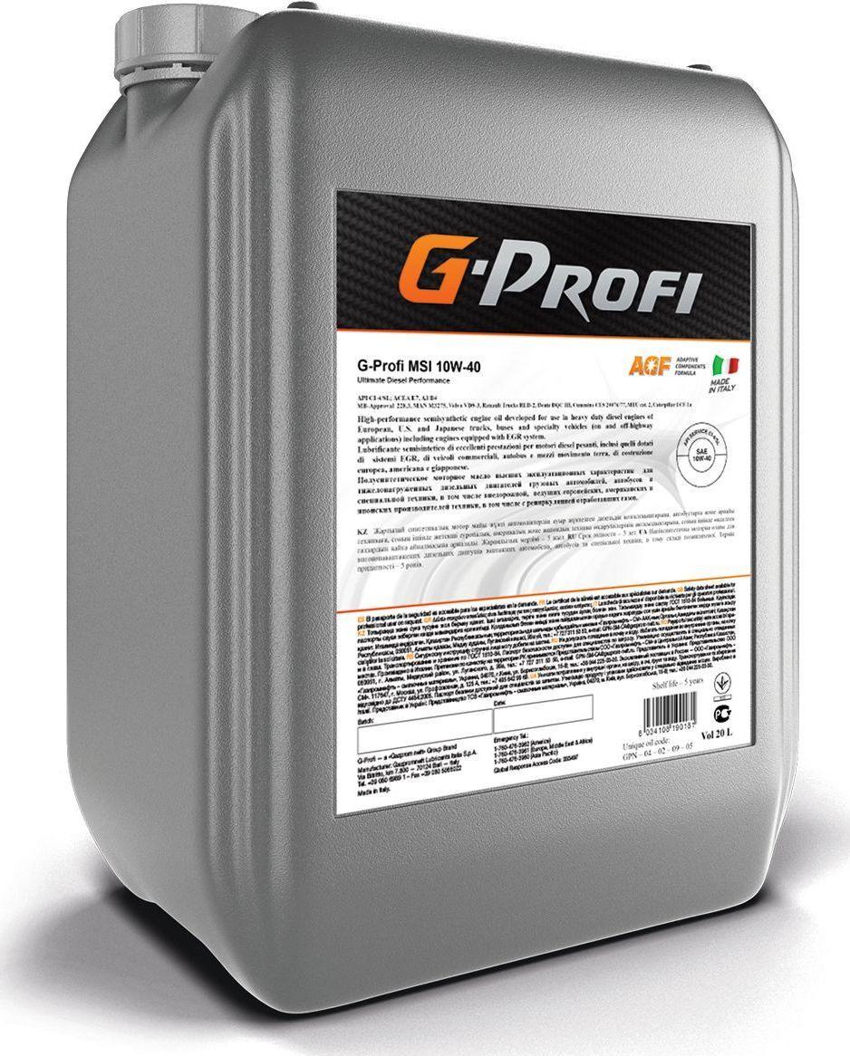 Моторное масло G-Profi G-Profi Msi 10W-40 Полусинтетическое 20 л #1