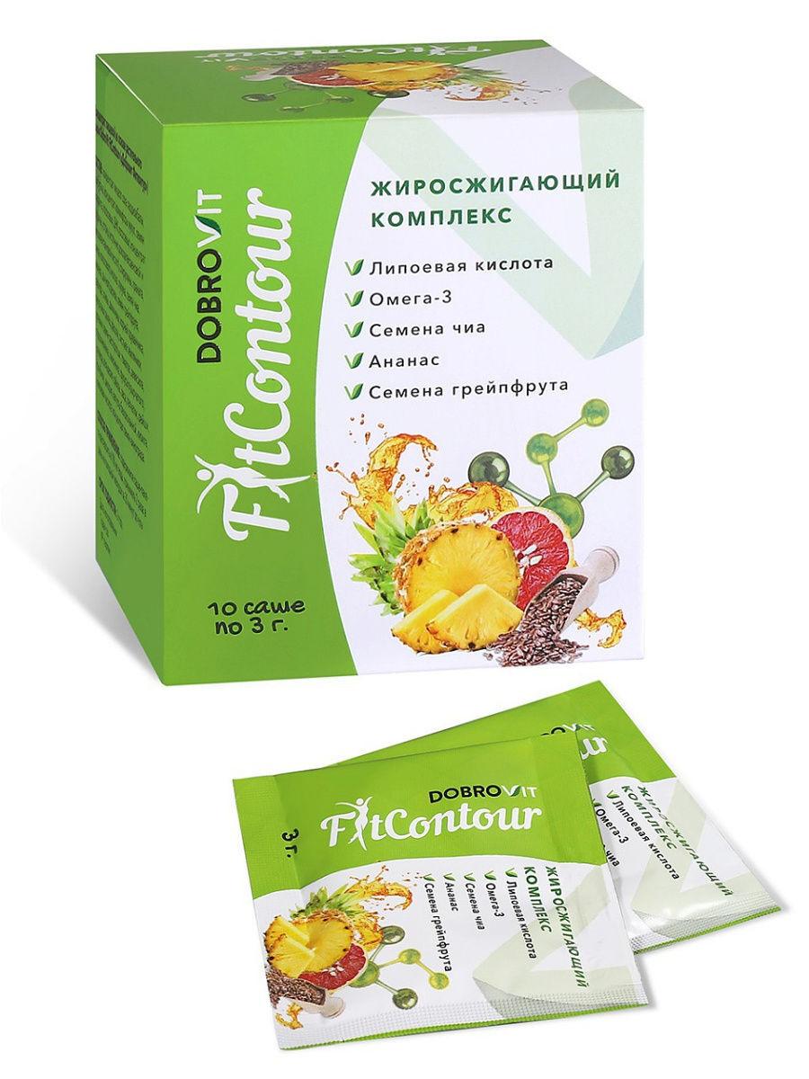 DOBROVIT Жиросжигающий комплекс FitContour с липоевой кислотой и Омега-3 кислотами  #1